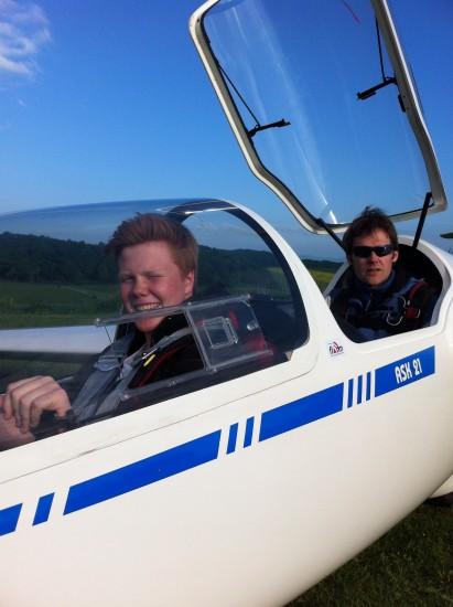 Checkflug mit Fluglehrer Christian Wegener