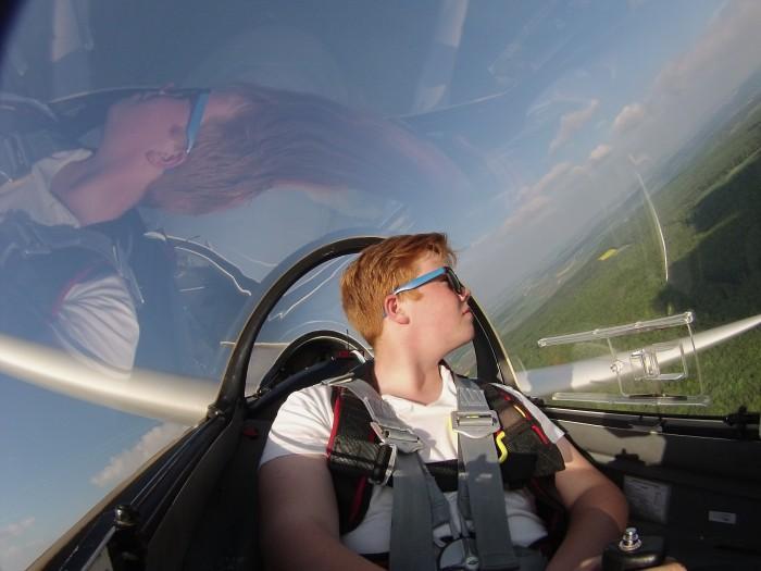 Der dritte Alleinflug, aufgenommen mit der GoPro